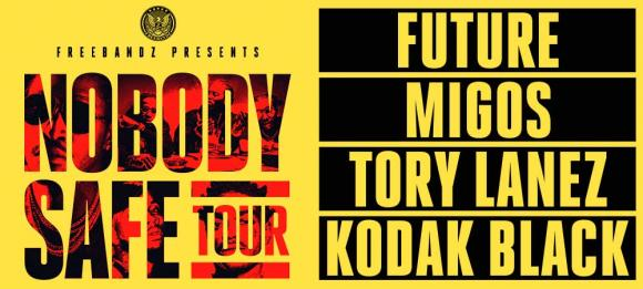 Future, Migos, Tory Lanez & Kodak Black at Cynthia Woods Mitchell Pavilion