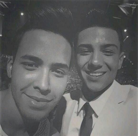 Prince Royce & Luis Coronel at Cynthia Woods Mitchell Pavilion