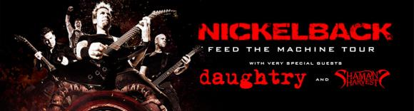Nickelback & Daughtry at Cynthia Woods Mitchell Pavilion
