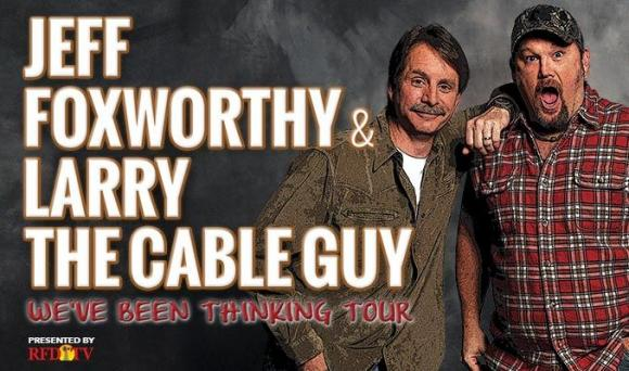 Jeff Foxworthy & Larry the Cable Guy at Cynthia Woods Mitchell Pavilion