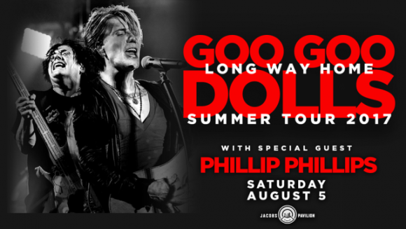 Goo Goo Dolls & Phillip Phillips at Cynthia Woods Mitchell Pavilion