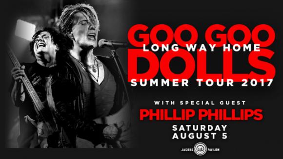 Goo Goo Dolls & Phillip Phillips at Cynthia Woods Mitchell Pavilion