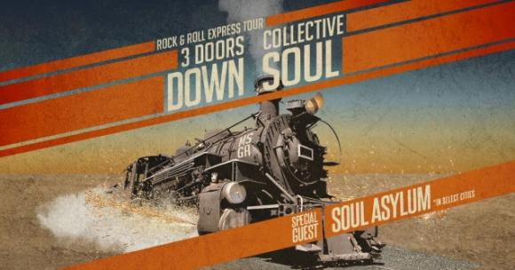 3 Doors Down & Collective Soul at Cynthia Woods Mitchell Pavilion