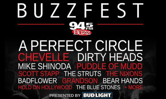 Fall Buzzfest: A Perfect Circle, Chevelle, The Struts, Mike Shinoda, Scott Stapp & Dirty Heads at Cynthia Woods Mitchell Pavilion