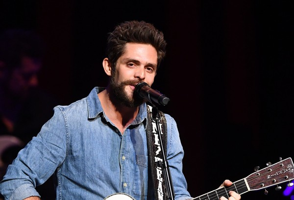 Thomas Rhett, Dustin Lynch, Russell Dickerson & Rhett Akins at Cynthia Woods Mitchell Pavilion