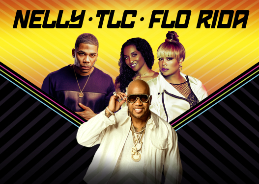 Nelly, TLC & Flo Rida at Cynthia Woods Mitchell Pavilion