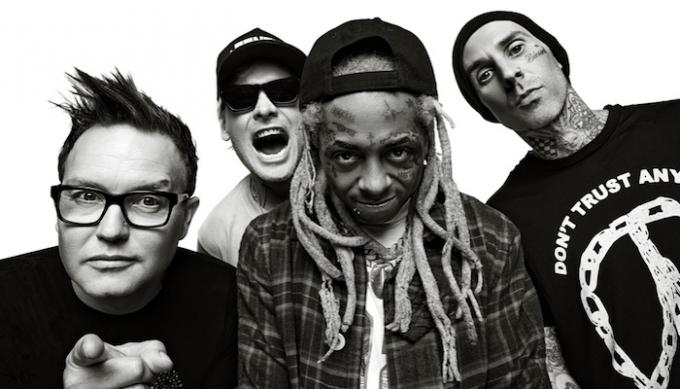 Blink 182 & Lil Wayne at Cynthia Woods Mitchell Pavilion