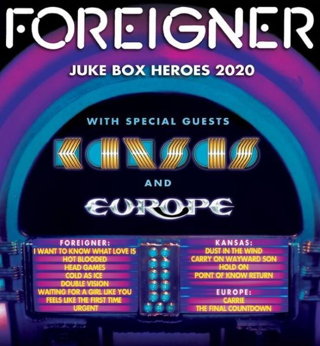 Foreigner, Kansas & Europe at Cynthia Woods Mitchell Pavilion