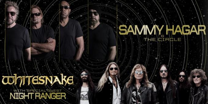Sammy Hagar and the Circle & Whitesnake at Cynthia Woods Mitchell Pavilion