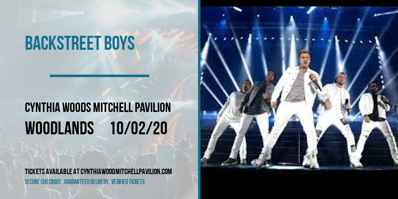 Backstreet Boys at Cynthia Woods Mitchell Pavilion