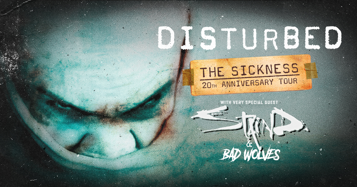 Disturbed, Staind & Bad Wolves at Cynthia Woods Mitchell Pavilion