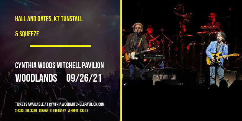 Hall and Oates, KT Tunstall & Squeeze at Cynthia Woods Mitchell Pavilion