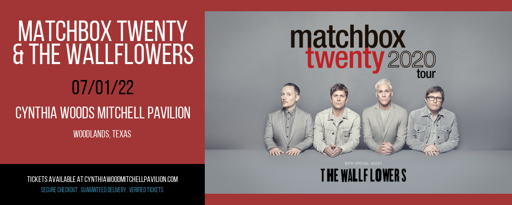 Matchbox Twenty & The Wallflowers at Cynthia Woods Mitchell Pavilion