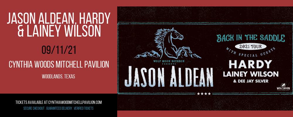 Jason Aldean, Hardy & Lainey Wilson at Cynthia Woods Mitchell Pavilion