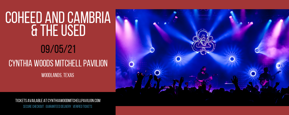 Coheed and Cambria & The Used at Cynthia Woods Mitchell Pavilion