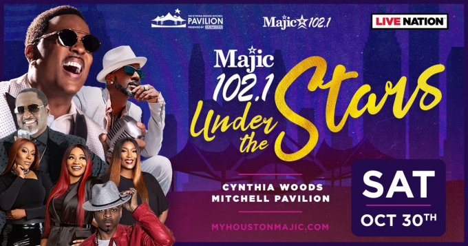 Majic 102.1 Under The Stars: Charlie Wilson, Johnny Gill, SWV & Stokley at Cynthia Woods Mitchell Pavilion