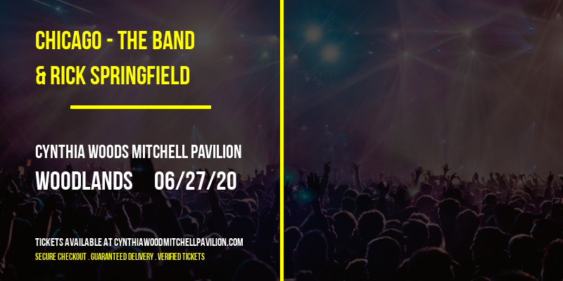 Chicago - The Band & Rick Springfield at Cynthia Woods Mitchell Pavilion