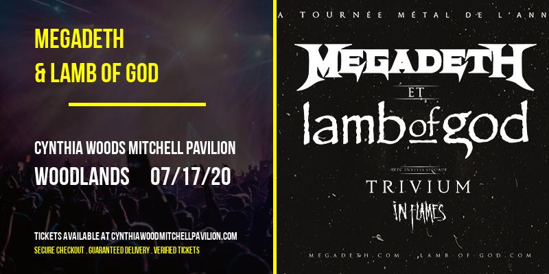 Megadeth & Lamb of God at Cynthia Woods Mitchell Pavilion