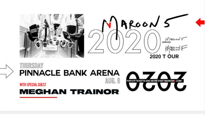 Maroon 5 & Meghan Trainor at Cynthia Woods Mitchell Pavilion