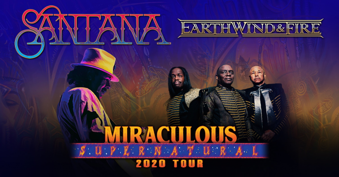 Santana & Earth, Wind and Fire at Cynthia Woods Mitchell Pavilion